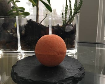 Tangerine Bath Bomb Bathbomb Soap Fizzy Spa Relaxing Relax Biodegradable Glitter Small Medium Large