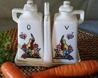 Vintage oil and vinegar set