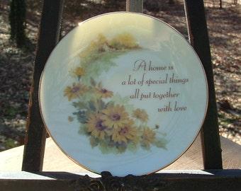 "ZERO SHIPPING! Vintage ""Lasting Treasures"" for American Greetings 4"" Porcelain Plate 1978 Japan"