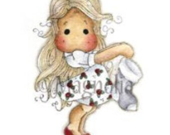 """Magolia Tilda stamp, The Day Before Christmas Stocking Tilda Cling Stamp 4""""X6.5"""" Package"""