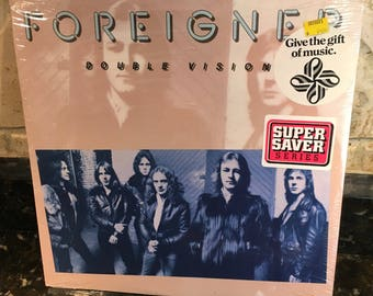 """Foreigner """"Double Vision"""" LP Record SEALED Vintage Pressing Hot Blooded"""