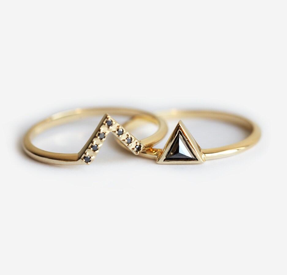 zoom - Black Diamond Wedding Ring Sets