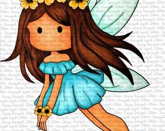 Flying Fairy Digital Stamp By Sasayaki Glitter
