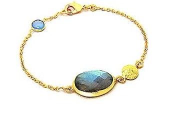 Labradorite Gold Bracelet