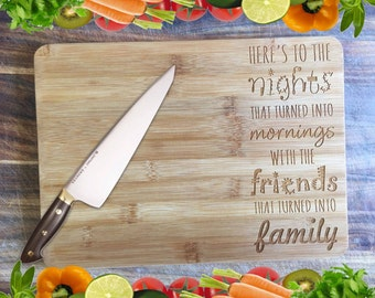 Friends into Family - Personalised Engraved Bamboo Chopping Board