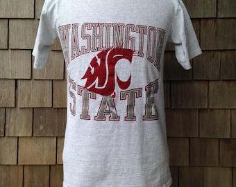 90s Vintage Washington State Cougars T shirt - Medium - University
