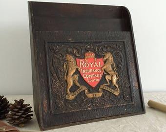Vintage Royal Insurance Company Limited Advertising Box