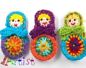 Crochet Applique Matroschka