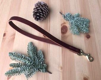 Traffic Bridle Leather Dog Leash - Hand-Stitched Short Traffic Lead
