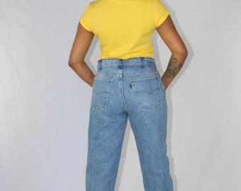 Vintage Levis Jeans High Waisted Women's Size 32 | Mom Jeans | High Waist Jeans | Levis 501 | Vintage Denim