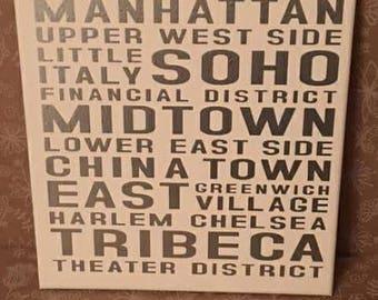 Subway Art Vinyl on Canvas