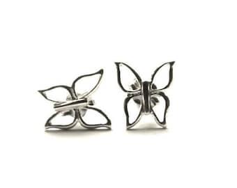 Sterling Silver Butterfly Stud Earrings - Butterfly Studs - Butterfly Earrings - Butterfly stud Earrings