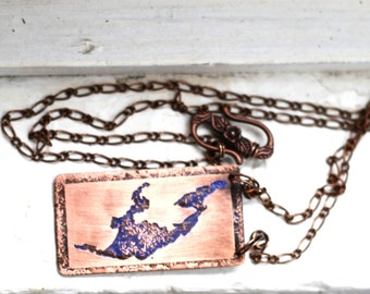 Belle Taine Lake Copper Necklace, Custom Lake Jewelry, Personalized Necklace, Sentimental Gift from Daughter, Teacher Appreciation Gift