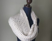 White Infinity Scarf .. C...
