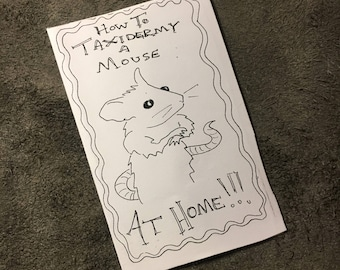 Handmade Zine- How to Taxidermy a Mouse at Home!