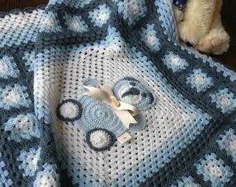 Copertina all 39 uncinetto con quadrati copertina neonato - Coperta uncinetto piastrelle ...