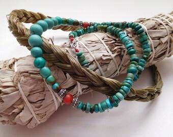 Earth Sky ~ Medicine Beads