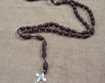 CUSTOM Regular Rope Rosaries with Cross