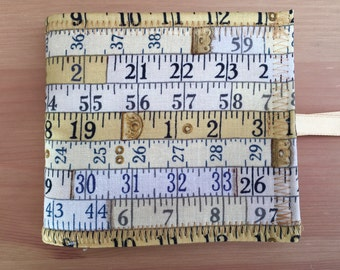 Tape Measure Theme Needle Book Case