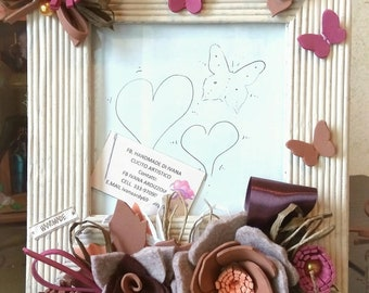 Cadre de Portafotgrafia, décoré de fleurs