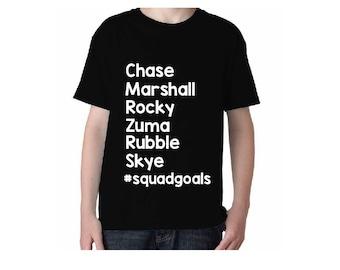 Paw Patrol # squad goals Kids Shirt