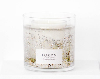 The Botanical Collection ~ All that Sparkles - Scented Candle  (Silver Glitter) - Birch Bark - Gift
