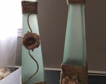 Decorative Floral Glass Set