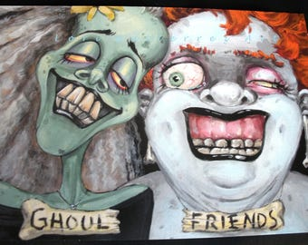 Ghoul Friends Greeting Card - Original Art by Lori Gutierrez!!