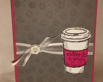 Coffee and Friends, Pink and Gray