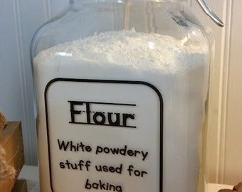 Flour Canister / Hermetic Jar / Air Tight Jar / Kitchen Canister / Flour Locking Jar / Kid Kanister / Kitchen Organization