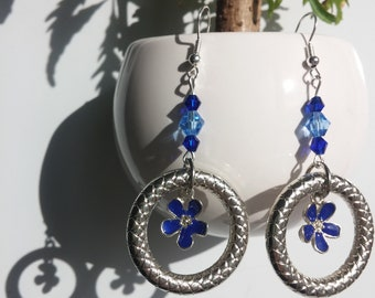 Flower Dangles - Blue