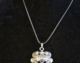 Masquerade Mask Charm Necklace