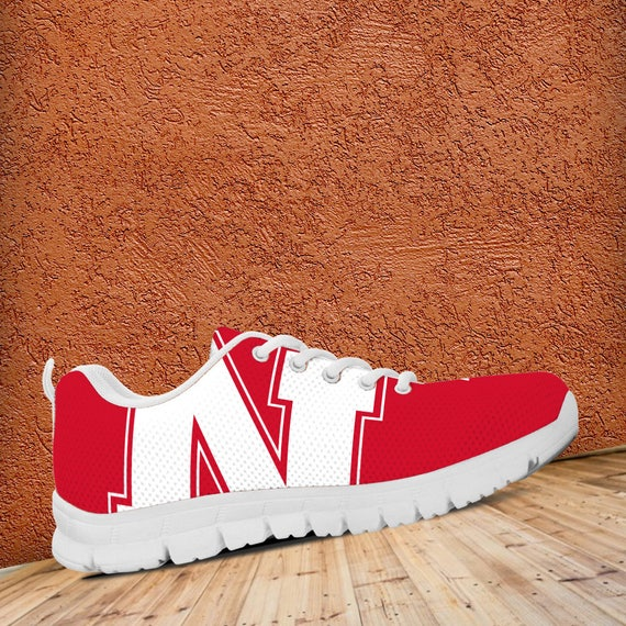 Mens Nebraska Sneakers Unofficial White Cornhuskers Shoes gift Ladies Trainers Fan Custom Sizes prxzwpY