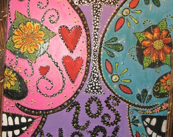 hand painted muerto #9
