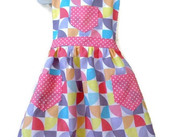Children's Apron, Toddler apron, Girl Apron, Baking Apron, Cooking Apron, Kids Apron, Little Girls Apron, Retro Apron, Gifts for Girls