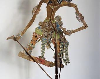 Shadow Puppet | Indonesia, vintage Wayang Kulit puppet