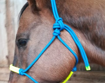 The Blue Valentine Rope Halter with Neon Yellow