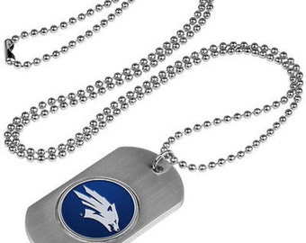 Nevada Wolfpack Stainless Steel Dog Tag Necklace