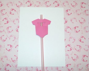 12 Baby Straw Toppers/ Party Suppies/ Baby Shower/ Birthday Party/ Party Decorating/