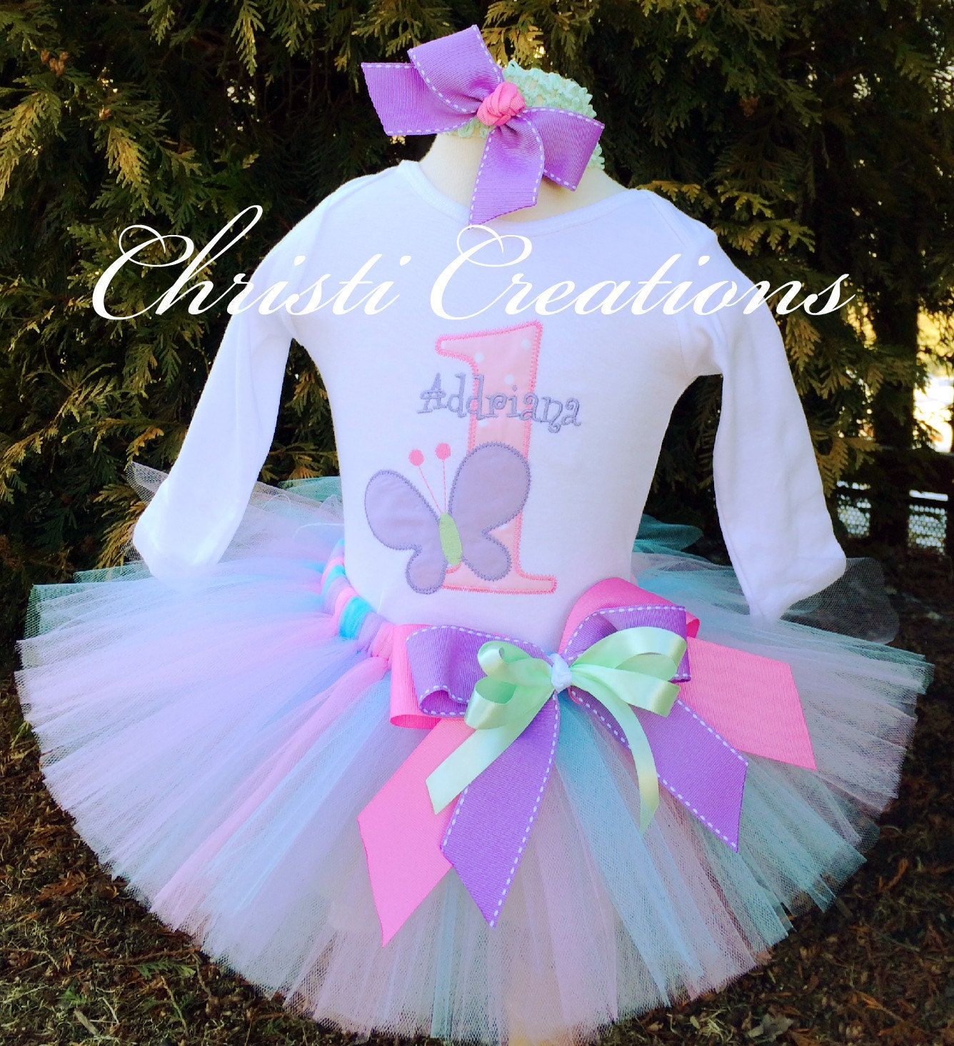 1st Birthday Butterfly Outfit Baby Girl Cake Smash