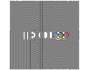 "MEXICO 68 Olympics Poster Mexico City Olympic Games Ultra-High Quality 24"" x 24"""