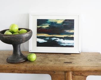 Small Painting, Original Painting, Seascape Painting, Oil Painting, Original Art, Oil on Canvas, Little Paintings, Decor, Wall Art