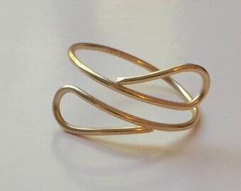 Minimalist Spiral Wire Ring