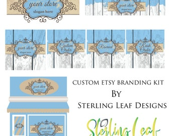 Distressed Wood Banner Design, Distressed Wood Cover Photo, Distressed Branding Package, Distressed Branding Kit, Distressed Logo Design