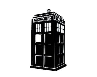 Doctor Who / Tardis vinyl decal sticker