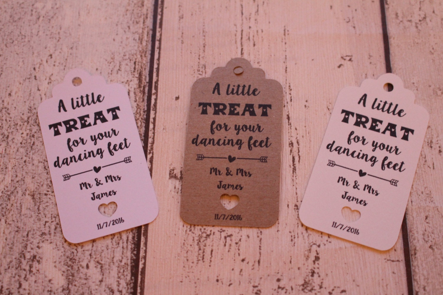 Personalised Rustic Wedding Favour Tags A little treat for