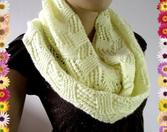 KNITTING PATTERN SCARF Infinity Scarf Cool Breeze Scarf pdf pattern Instant Download woman cowl scarf, girl knitted scarf pattern