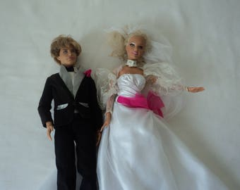 REDUCED - Mattel Barbie & Ken bride and groom dolls (05589)