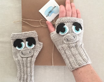 Miss Piggy, Fingerless Gloves, Winter Fashion, Characters Fuse Bead, Arm Warmers, Mother's Days, HandKnitting