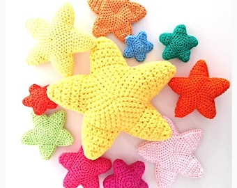 Crochet Stars Pattern Pack (Five different sizes/patterns) - Instant Download